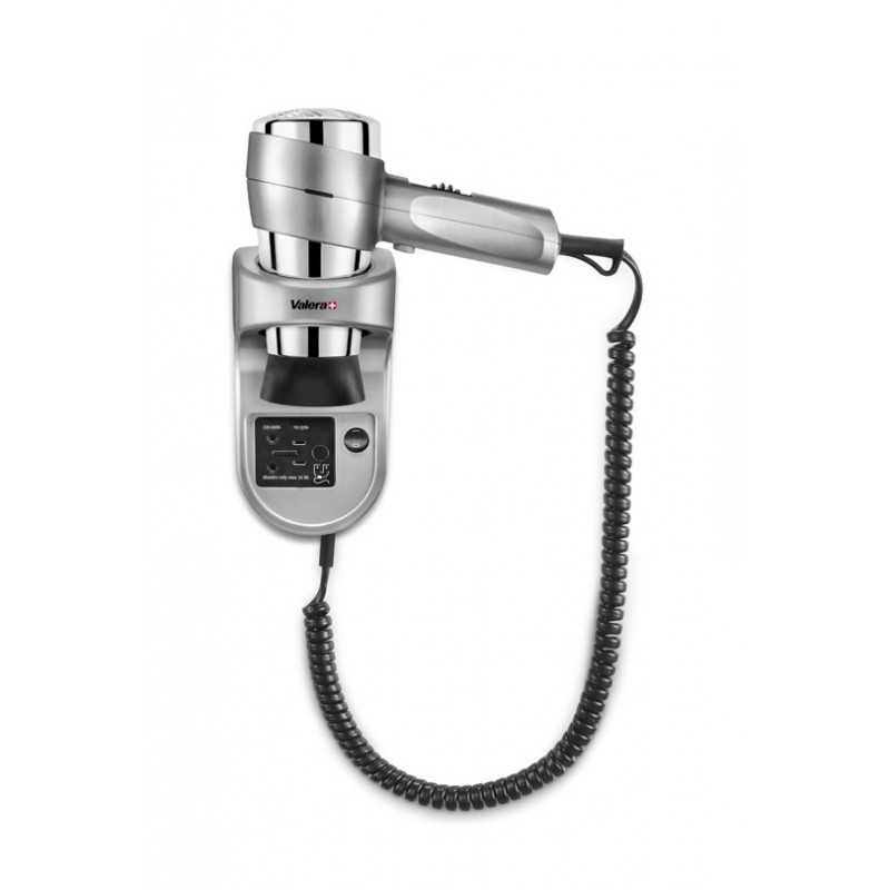 Wall mounted hair dryer Action Super Plus 1600 Shaver Silver 542.06/032.05 Silver