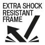 Extra shock resistant frame