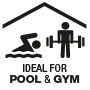 Ideal for areas with high frequency of users such as pools and gyms