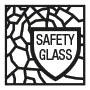Safety glass mirror